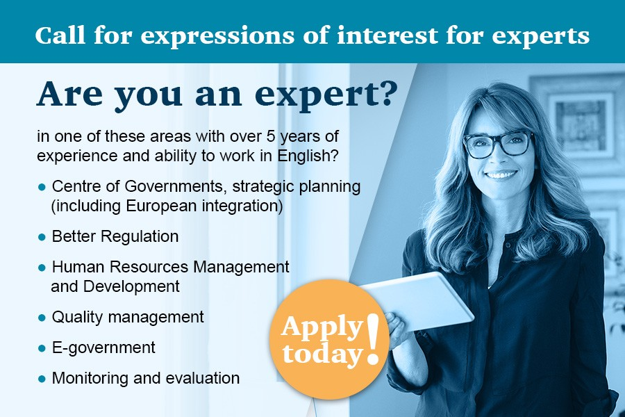 Call for expressions of interest for experts (non-civil /public servants)