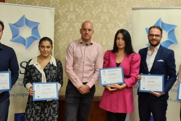 ReSPA awards five public officials in Albania after completing the Training of Trainers Programme