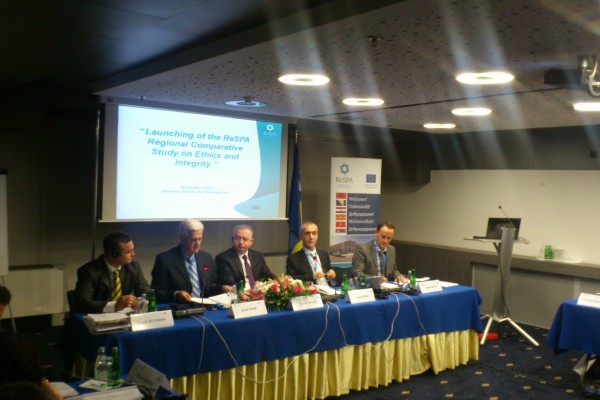 "ReSPA launched the Regional Comparative Study on ""Income and Asset Declaration"" in the Western Balkans, on Tuesday October 8,  in Sarajevo"