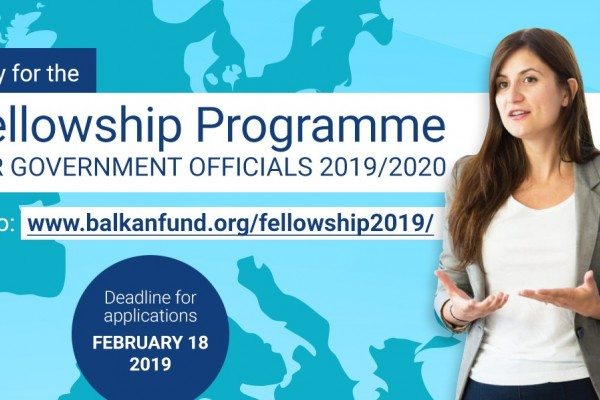 European Fund for the Balkans: Call for Applications – Fellowship Programme for Government Officials ...