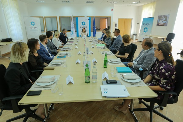 Traditional working breakfast gathered Ambassadors of ReSPA Members and representatives of the Ministry ...
